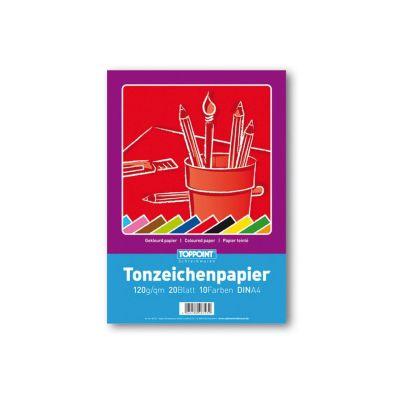 Tonzeichenpapier, A4, 10 Farben | 280-6535020 / EAN:4260489742228
