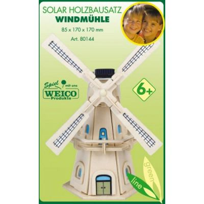 Weico Solar Holzbausatz Windmühle | 280-25103343 / EAN:4011236801442