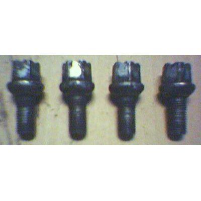 4 Felgenschrauben 14 x 1.5 x 25.5 / SW 17 VW / Audi / Seat / Skoda - gebraucht   MAV - [ 5094 ]