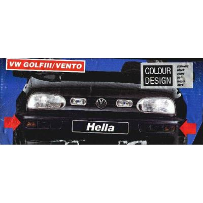 NEU + Blinker / Blinklicht / Blinkleuchten VW Golf 3 / Vento 1H0 schwarz - Rauchfarbe / Satz mit Blenden - VAG | MAV - 17136 + 17137 + 17140 + 17141