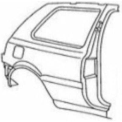 NEU + Seitenteil VW Golf 3 1H0 3 Türer / R mit Rahmen - VAG 9.91 - 8.96 - Kotflügel Hinten + Orig - 1H3809844B   MAV - 28667