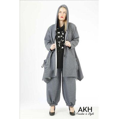 AKH Fashion Jacke Noppen indigo | 2030j-noppen-indigo