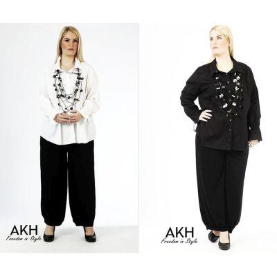 AKH Fashion Lagenlook Bluse aus Baumwolle | 1864-Bluse