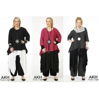 AKH Fashion Lagenlook Pullover Baumwolle | 1019strick