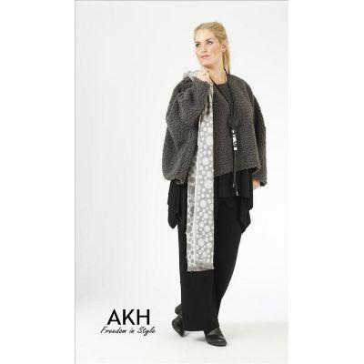 AKH Fashion Lagenlook Pullover grau | 6048pullover-grau