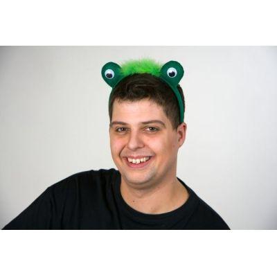 Kopfbügel mit Froschaugen - Haarreif Frosch - Kostümergänzung Frosch | FM100.266.00(21) / EAN:4007487116343