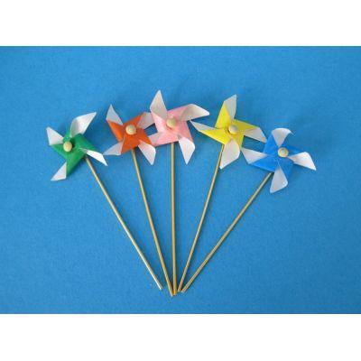 5 Windmuehlen bunt Puppenhaus Dekoration Spielzeug Miniaturen 1:12 | c73310 / EAN:3597837331003