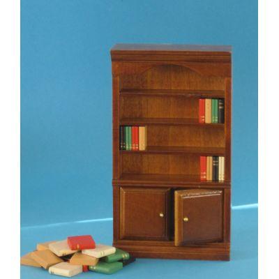 Bücherschrank braun Puppenhaus Möbel Miniaturen 1:12 | c27443 / EAN:3597832744303