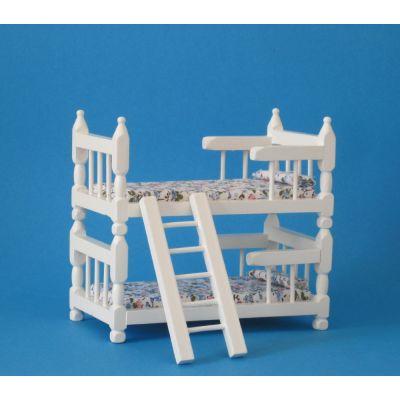 Doppelstockbett für Puppenhaus Kinderzimmer Möbel 1:12 | StDF252 / EAN:keine