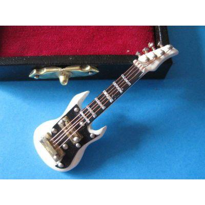 E-Gitarre im Koffer Musik Puppenhaus Instrumente Miniaturen 1:12 | c76932-933