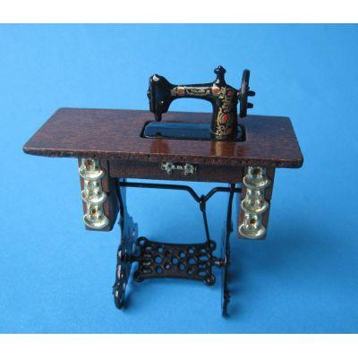 Edle Nähmaschine Puppenhausmöbel Wohnzimmer Miniaturen 1:12 | c72580-581