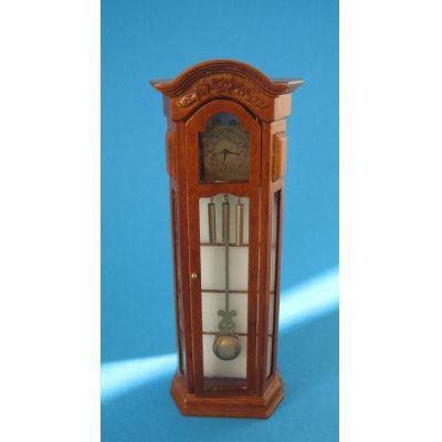 Edle Standuhr braun Louis Philippe Puppenhaus Miniatur 1:12 | c382070 / EAN:3597833820709