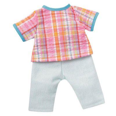 Fröhlicher Sommeranzug bunt kariert Kleidung für 24-26 cm Puppen | SW10820-24 / EAN:4001352108242