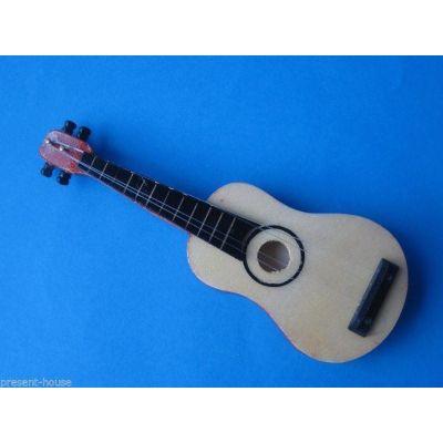 Gitarre braun Puppenhaus Dekoration Miniaturen 1:12 | c71976 / EAN:3597837197609