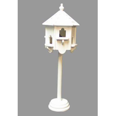 Grosses Vogelhaus weiss für den Puppenhaus Garten Miniaturen 1:12 | VM23764 / EAN:keine