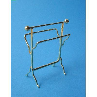 Handtuchhalter Messing Badezimmer Puppenhausmöbel Miniatur 1:12 | c76560 / EAN:3597837656007