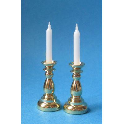 Kerzenleuchter 2 Stück Puppenhaus Dekoration Miniatur 1:12   c76053 / EAN:3597837605302