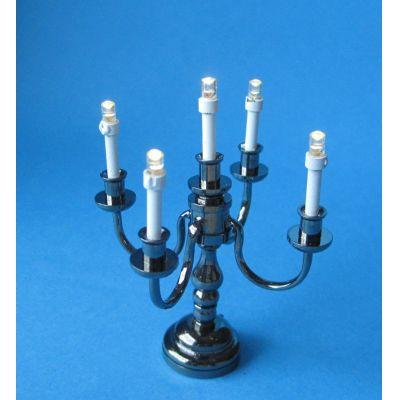 Kerzenstaender Leuchter 5-armig LED Puppenhaus Miniatur 1:12 | c2229 / EAN:3597832229008