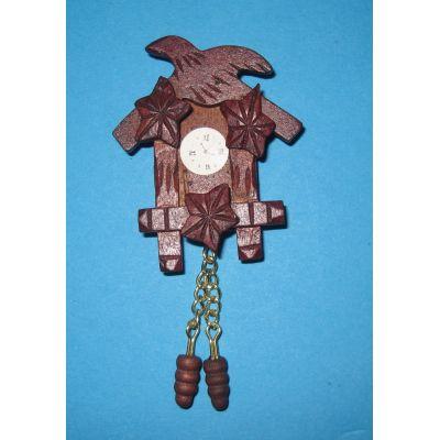 Mini Kuckucksuhr Wohnzimmer Puppenhaus Möbel Deko Miniatur 1:12 | c71490 / EAN:3597837149004