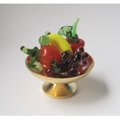 Obstschale mit Früchten Puppenhaus Dekorationen Miniaturen 1:12 | c76170