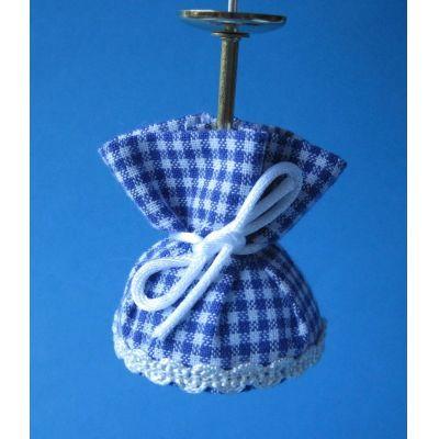 Puppenhaus Hängelampe karierter Stoffschirm | K10535 / EAN:4026179105359