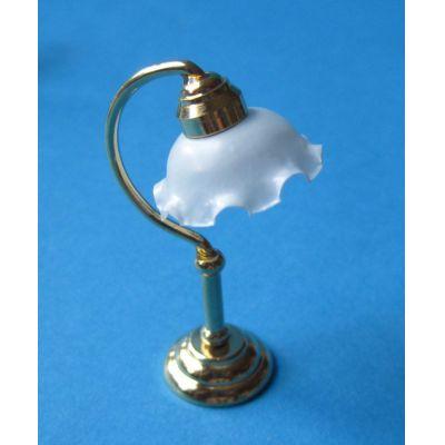 Puppenhaus Tischlampe weisser Schirm Dekoration Miniatur 1:12 | c76180 / EAN:3597837618005