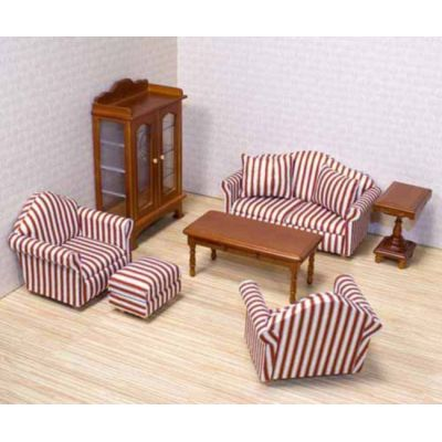 puppenhaus wohnzimmer puppenhausm bel miniaturen 1 12 lafeo. Black Bedroom Furniture Sets. Home Design Ideas