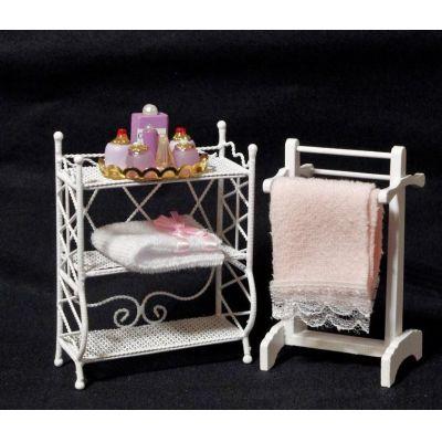 regal handtuchhalter handt cher badezimmer puppenhaus m bel miniatur 1 12 puppenhausm bel. Black Bedroom Furniture Sets. Home Design Ideas