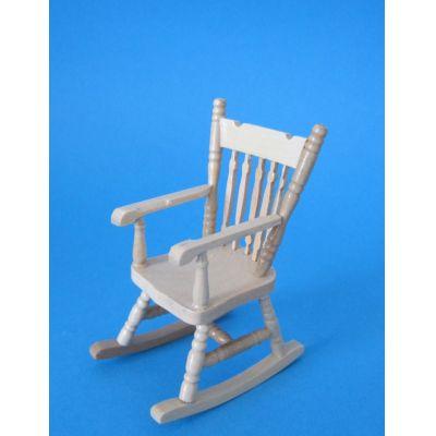 Schaukelstuhl eiche hell Puppenhaus Möbel für die Puppenstube 1:12 | c30350 / EAN:359783303905