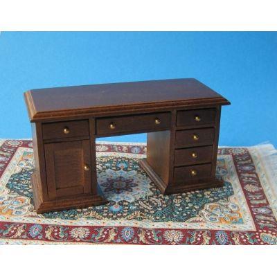Schreibtisch braun Puppenhausmöbel Miniaturen 1:12 | C27493 / EAN:3597832749308
