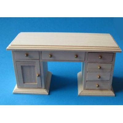 Schreibtisch Naturholz Arbeitszimmer Möbel für Puppenstube 1:12 | c27499 / EAN:3597832749902