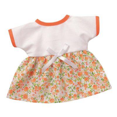Sommerkleid weiss Blütenranken Puppenkleidung 24-26 cm Schwenk   SW10024-wb / EAN:4001352100246