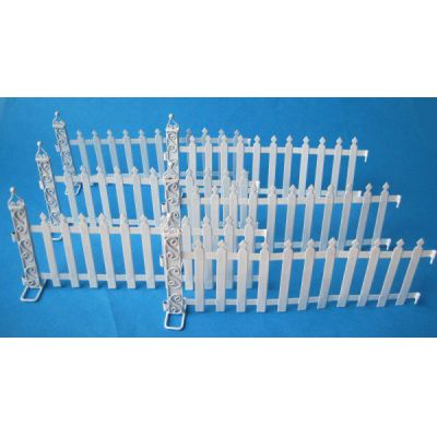 Zaun Metall Weiss 6 Tlg Fur Puppenhaus Garten Miniatur 1 12 Von Creal