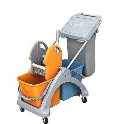 CleanSV Putzwagen - mit 2 x 25 Liter Eimern und 60 Liter Müllsack   116-TSK-0008 / EAN:4251228300328