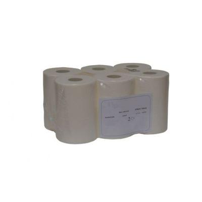 Handtuchpapierrolle für Rollenspender Oto 6 Rollen, 2-lagig, 20 cm, ca. 110 m pro Rolle, hochweiss | 04-515086 / EAN:0738613496506