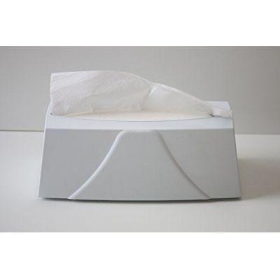 Handtuchspender zum stellen , Kunststoff weiß, mit 200 Blat Handtuchpapier 2 lagig hochweis Zellstoff | 114-3534-0WEISS / EAN:425128300410