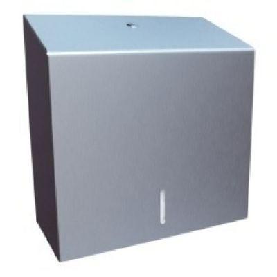 Papierhandtuchspender Meri500 aus Edelstahl matt für ca. 500 Tücher hochwertige Verarbeitung | 143-ASM101 / EAN:0738613496889