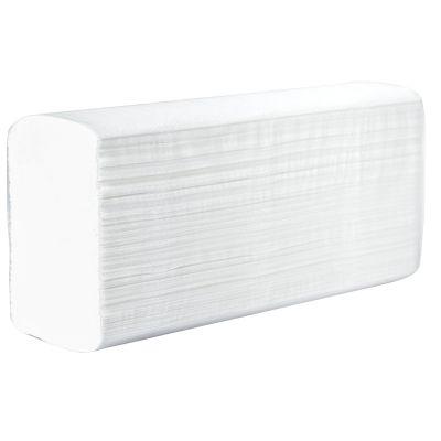 Papierhandtücher Zelllstoff hochweiss, 25 x 23 cm, 2 lagig Zellstoff hochweiss, 4000 Stück im Karton | 04-500040 / EAN:0736846047458