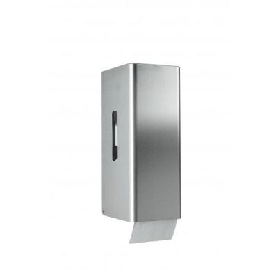 Toilettenpapierspender CWS ObjectLine Edelstahl für 2 Rollen Toilettenpapier, HxBxT 303x116x136, Schloss | 141-706700 / EAN:0738613495677