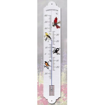 Dekor Vögel- Großes robustes DEKOR- Thermometer 700 mm- Metall- Außen- Made Germany   1140232126