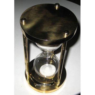**Edle, massive Sanduhr Stundenglas 15 min Höhe 14,5 cm, Messing | 818911406