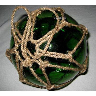 ** GROSSE Fischerkugel im Netz 15 cm- grün | 819314086