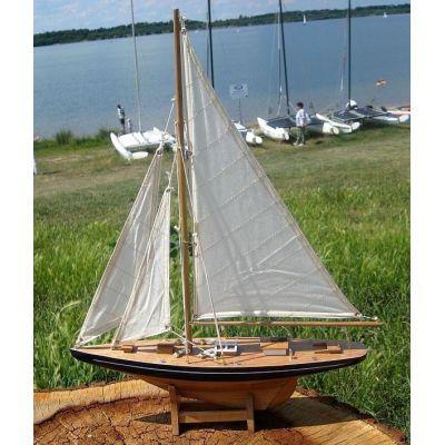 **Große Yacht, Segelschiff, Schiffsmodel Segelyacht Holz 80 cm   818939421