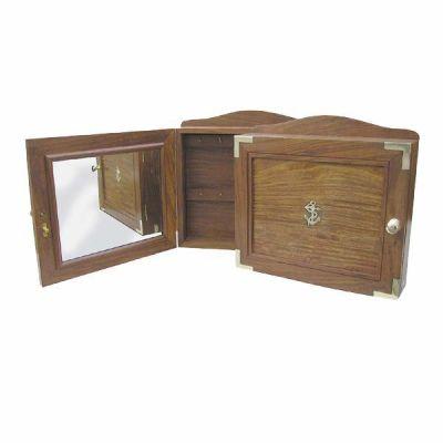 **Maritim- Schlüsselkasten mit Spiegel - Holz- 31 cm | 819327941