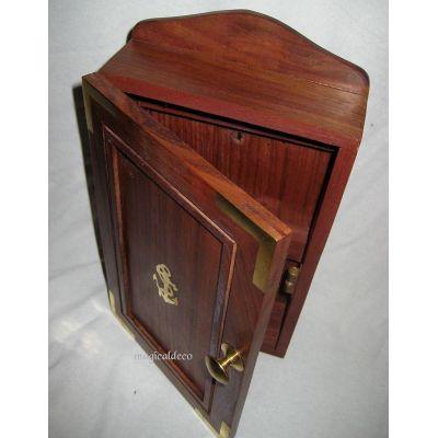 **Maritimer Schlüsselkasten- Ankermotiv aus Holz und Messing | 819325851