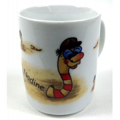Namenstasse Nadine- Porzellan- Tasse, Kaffeepott, Becher- Wattwurm - deutsches Produktdesign | 3120968729