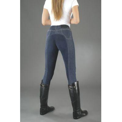 Kinder-Reithose Jeans DENIM Vollbesatz, Gr. 140 | 326-700-03