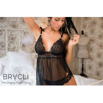 Bracli Babydoll SATIN | schwarz - M | bra2080 / EAN:8435357304303