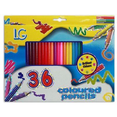 36 Buntstifte in Box - ca. 26 x 20 cm | HM44210 / EAN:5413247043795