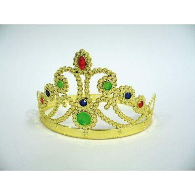 Diadem mit Schmucksteinen - Prinzessin-Diadem gold   FM95043825 / EAN:4007487950381